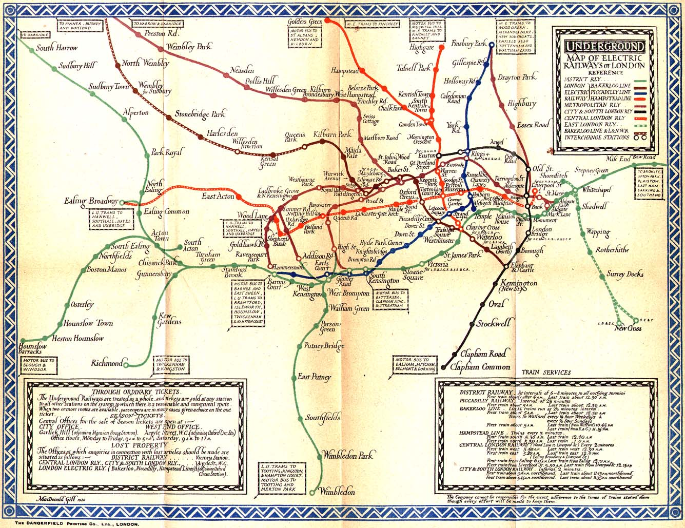 1921 London Subway Maps