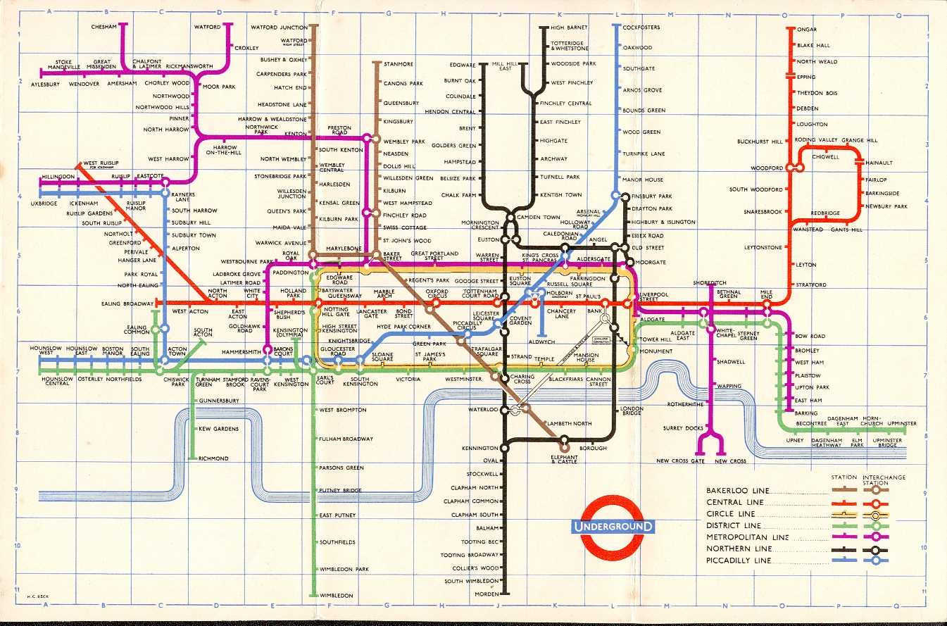 The London Tube Map Archive