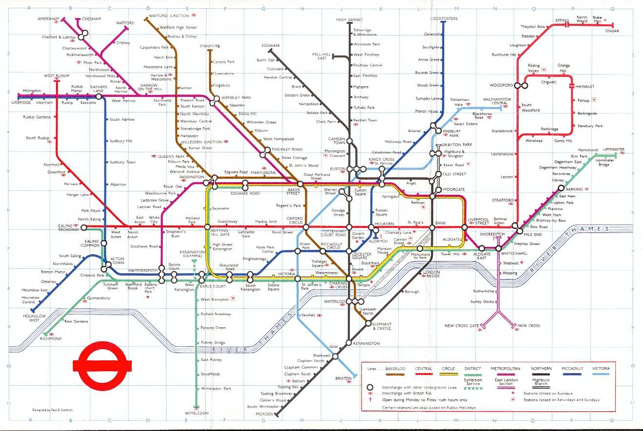 1972 London Subway Maps