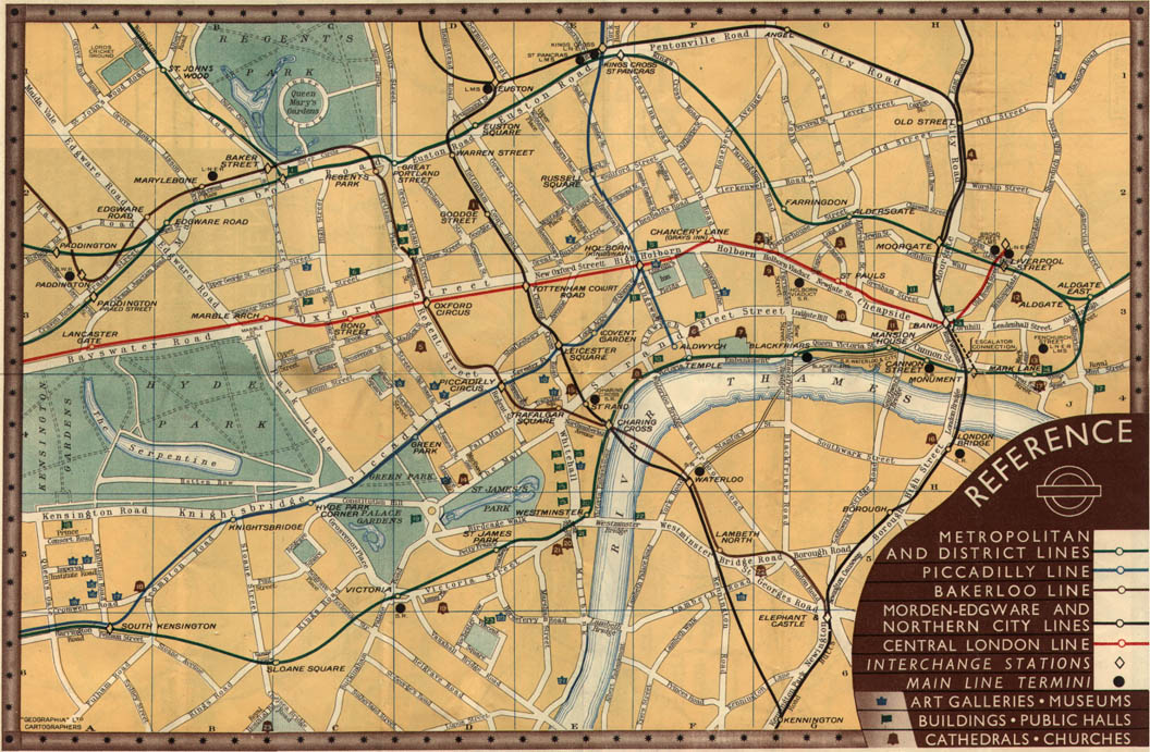 Subway Map Before 1933.The London Tube Map Archive