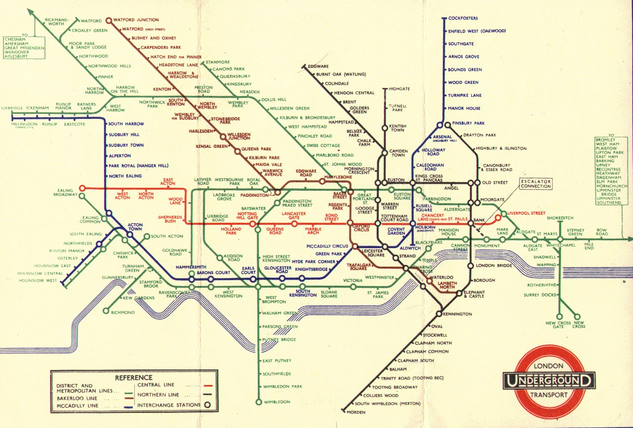 Map Subway London.The London Tube Map Archive