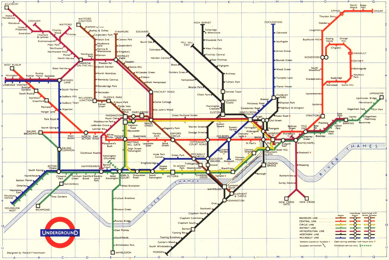 1900 Subway Map New York City.The London Tube Map Archive