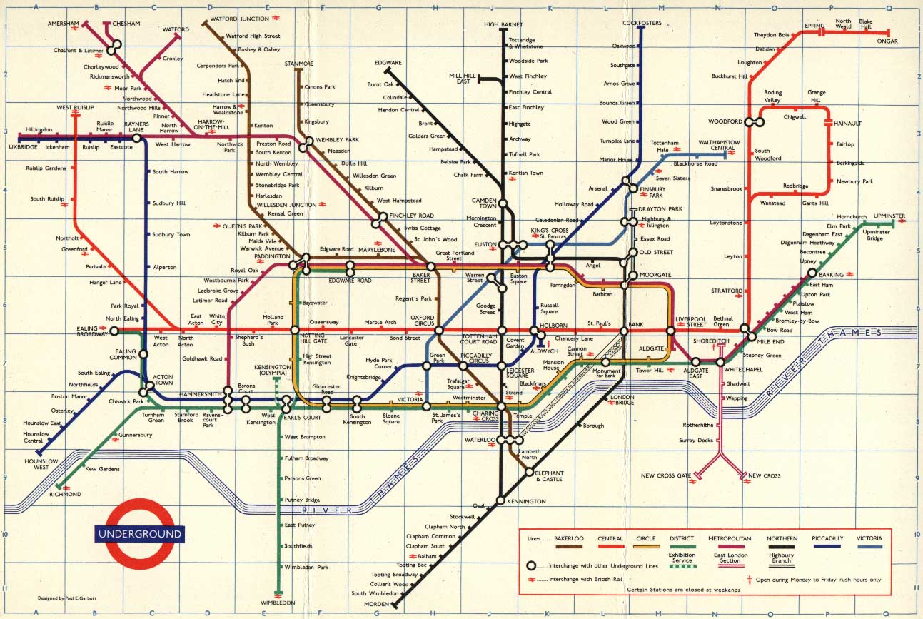 Map Of London With Underground.The London Tube Map Archive