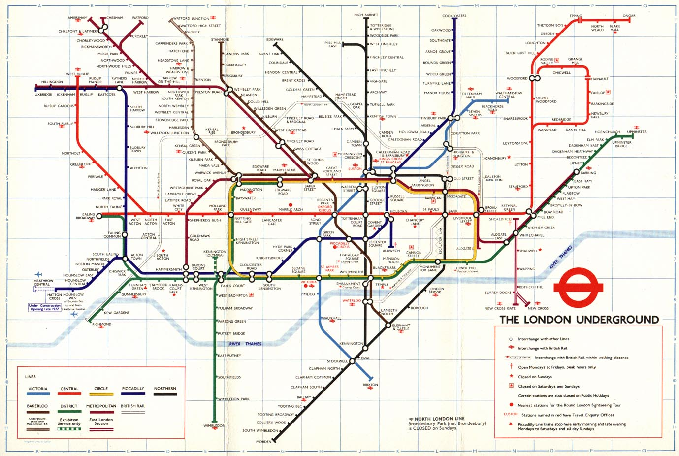 London Line Map.The London Tube Map Archive