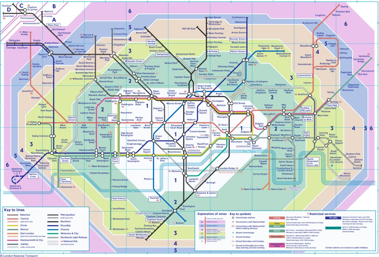 1 Subway Map.The London Tube Map Archive